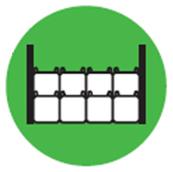 フレコンバッグ積み重ね方の例(側面支え積み)