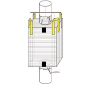 タイプCフレコン製品例:角型4点吊りタイプ