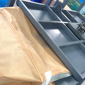 フレコンバッグ折畳み工程の様子